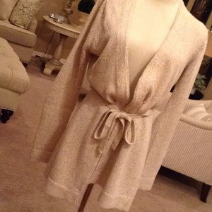 Moda International tan sweater jacket